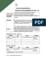 Ficha de Inscripcion Feria de Proyectos 2018-20