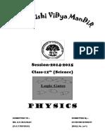Logic Gates (Physics Project)