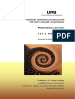 Diseño y Validación de Un Modelo de Evaluación