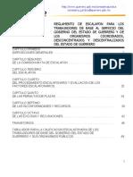 Reglamento de Escalafon Para Los Trrabajadores de Base Al Servicio Del Gob. Del Edo. de Gro. y de Los Organismos Coordinados, Desconcentrados y Descentralizados Del Edo. de Gro