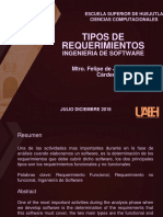 Tipos de Requerimientos ( Ingenieria de SOftware)