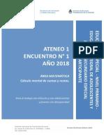 2.1.a. Nivel Primario Educación Especial Ateneo Didáctico N° 1 Encuentro 1 Primer Ciclo Matemática Carpeta Participante