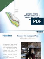 5.- Catastro Minero Nacional Integrado a Las Regiones y Otros Sectores