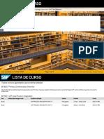 SAP Netweaver Integration - LISTA de CURSO