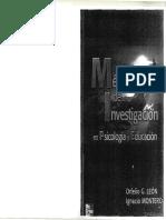 Metodos de Investigacion en Psicologia y Educacion