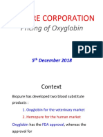 Biopure Corporation - Pricing of Oxyglobin