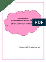 Stoia Cristina Andreea- Proiect Didactic -Limba Romana