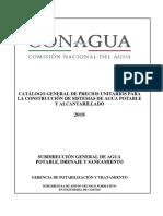 Catalogo CONAGUA