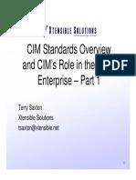 CIM Standard Overview