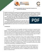 Estudo de Caso Da Aplicação Da Ferramenta Fmea No Subsistema de Direção de Um Prototipo Tipo Mini Baja Coen