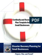 Continuity and Recovery Plan Template for Businesses