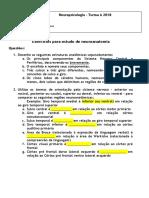 Exercicio de Neuroanatomia - 2018.Docx (1)