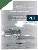 Estudio de percepciones en Morococha 2013. MINSA - CENSOPAS