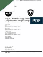 Fatigue Life Methodology for Bonded Composite Skin / Stringer Configurations