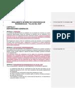 Reglamento Interno Villas Del Sur