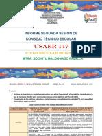 Informe Segunda Sesión 147
