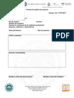 Registro de Asesoria