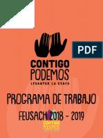 Programa Lista A Feusach 2019