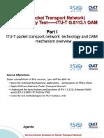Session 9-1 ITU-T G.8113.1 Part I-Li Fang 李芳