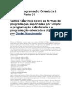 Delphi Orientação a Objetos 1