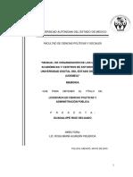 Manual de Organizacion de Las Unidades Academicas y Centros de Estudios de La Universidad Digital Del Estado de Mexico Guadalupe Ruiz Delgado
