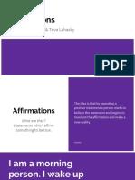 Affirmations Presentation