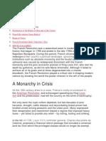 A Monarchy in Crisis