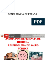 Conferencia de Prensa - Anemia