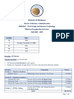 BMIS625_Midterm Examination Structure_Fall 2018 2019
