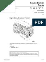 Engine Brake, Design and Function Volvo D11