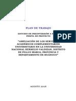 Plan de Trabajo Unheval