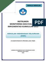 1. Instrumen Monev k13 2018 Smk (Kepala Sekolah)