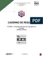 Caderno de Resumos V CONALI- 2017