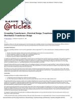 XFMR_Grounding Transformers -...Tion Transformer Design