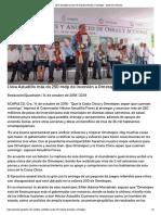 14-10-2018 Lleva Astudillo más de 250 mdp de inversión a Ometepec.