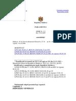 Legea Contabilitatii din 2007, Parlamentul Republicii Moldova