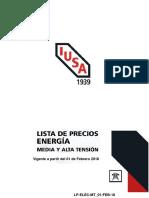 Precios de equipo eléctrico 2018