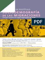 Afiche Sociodemografia de Las Migraciones PDF