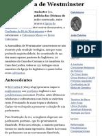 Assembleia de Westminster – Wikipédia, a enciclopédia livre