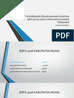 Presenrase Rapat Koordinasi Pelaksanaan Kegiatan Bsps (Evaluasi i