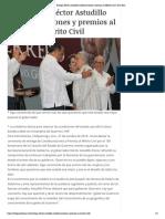 28-10-2018 Entrega Héctor Astudillo condecoraciones y premios al Mérito Civil.
