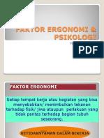 IV Faktor Ergonomi Psikologi