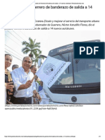 29-10-2018 Gobernador de Guerrero de Banderazo de Salida a 14 Nuevos Autobuses.