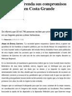 31-10-2018 Astudillo Refrenda Sus Compromisos de Gobierno en Costa Grande.