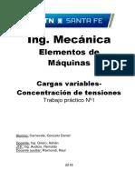 TP 1 Cargas Variables Concentracion de Tensiones - MAR18