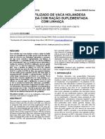 LEITE LIOFILIZADO DE VACA HOLANDESAALIMENTADA COM RAÇÃO SUPLEMENTADACOM LINHAÇA