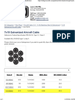 7x19 Galvanized Aircraft Cable on Lexco Cable Manufacturers