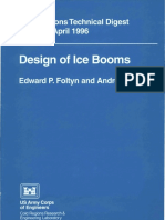 Design of Ice Booms