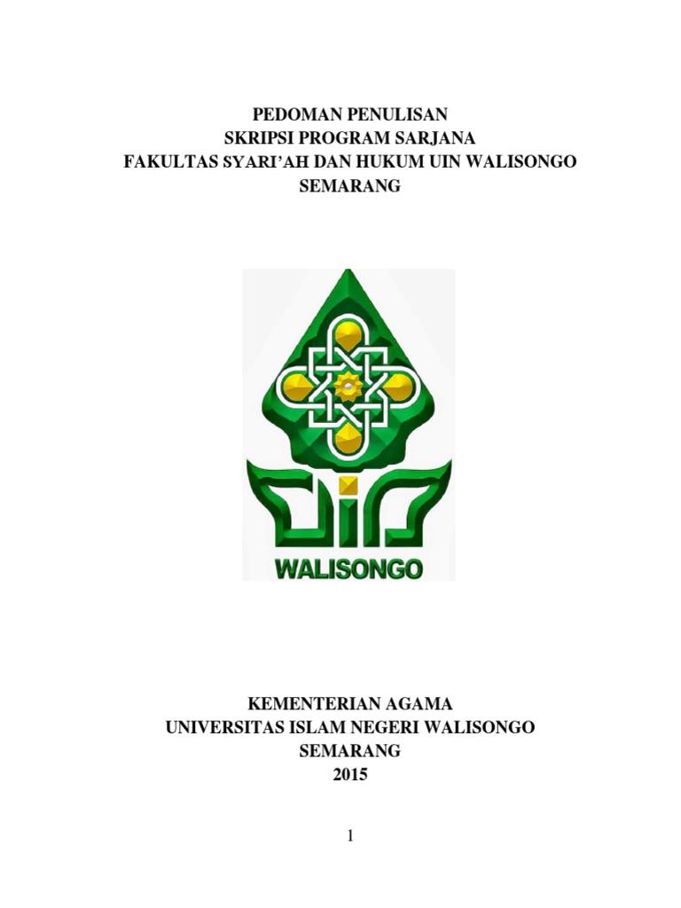 Pedoman Penulisan Skripsi Fsh Uin Walisongo Docx