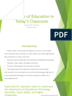 the role of education today